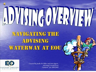 Navigating the advising waterway at EOU