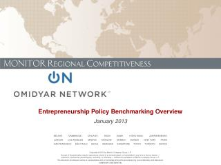 Entrepreneurship Policy Benchmarking Overview