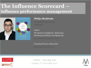 The Influence Scorecard – influence performance management