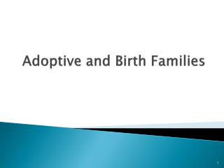 Adoptive and Birth Families