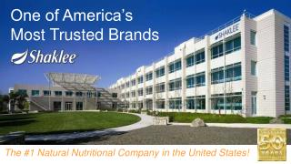 The #1 Natural Nutritional Company in the United States!