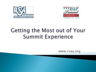 The Receptive Services Association of America Getting the Most out of Your Summit Experience