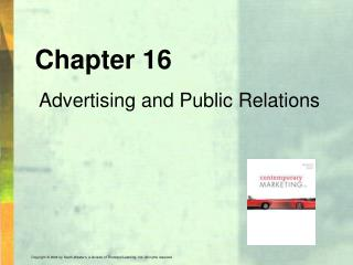 Chapter 16 Advertising and Public Relations