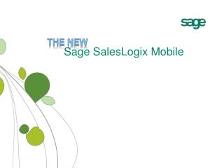 Sage SalesLogix Mobile