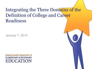 Integrating  the Three Domains of the Definition  of College and Career Readiness