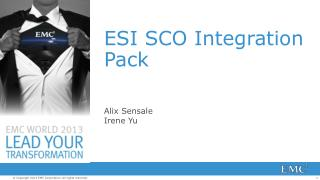 ESI SCO Integration Pack