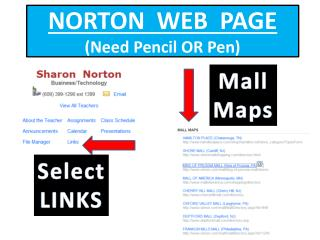 NORTON  WEB  PAGE (Need Pencil OR Pen)