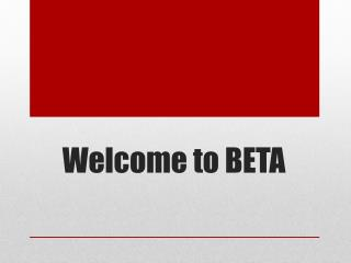 Welcome to BETA