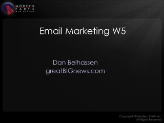 Email Marketing W5