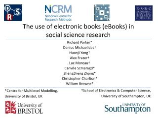 The use of  electronic  books  (eBooks) in social science research