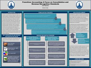 Franchisor Accounting: A Focus on Consolidation and Revenue Recognition Standards Julie  Wynstra Marietta College