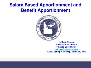 Salary Based Apportionment and Benefit Apportionment