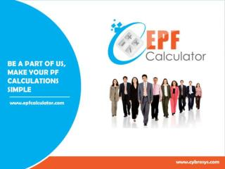 EPF CALCULATOR - OVERVIEW