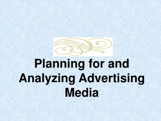 Analysis of Advertising Media