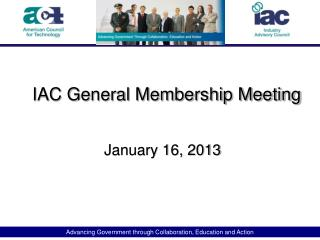 IAC General Membership Meeting