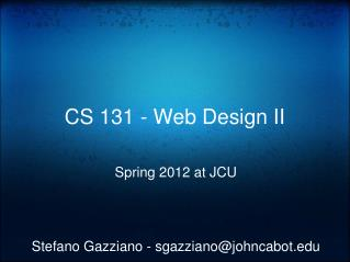 CS 131 - Web Design II