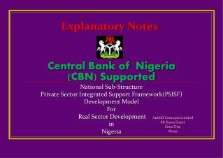 Explanatory Notes
