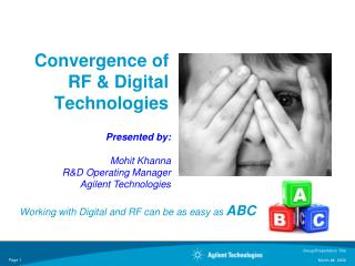 Convergence of RF & Digital Technologies
