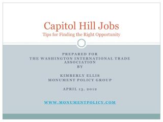 Capitol Hill Jobs Tips for Finding the Right Opportunity