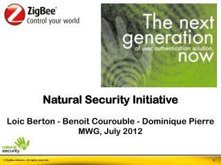 Natural Security Initiative Loic  Berton - Benoit  Courouble  - Dominique Pierre MWG , July  2012