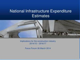 National Infrastructure Expenditure Estimates