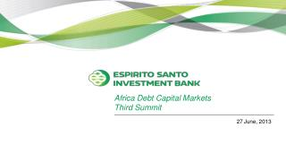 Africa Debt Capital Markets  Third Summit
