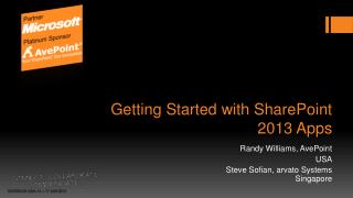 Getting Started with SharePoint 2013 Apps