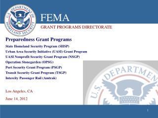 Preparedness Grant Programs