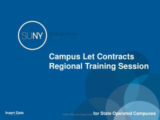 Campus Let Contracts Regional Training Session