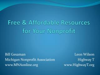 Free & Affordable Resources for Your Nonprofit