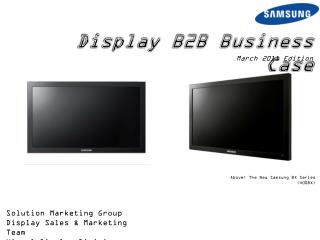 Display B2B Business Case