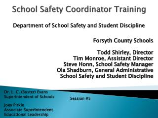 School Safety Coordinator Training