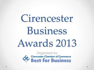 Cirencester  Business Awards 2013