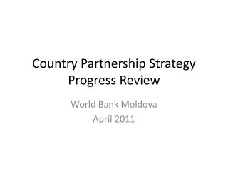 Country Partnership Strategy Progress Review