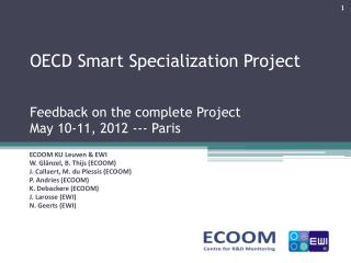 OECD Smart Specialization Project Feedback on the complete Project May 10-11, 2012 ---  P aris
