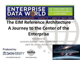 The EIM Reference  Architecture A  Journey to the Center of the Enterprise