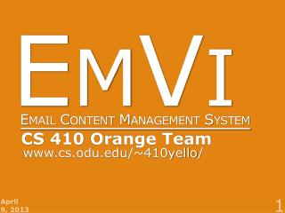 EmVi Email  Content Management  System