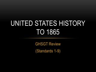 United states history       to 1865