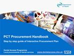 PCT Procurement Handbook Step by step guide of Interactive Procurement Plan