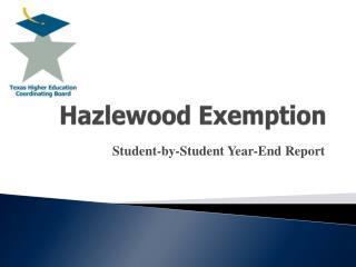 Hazlewood Exemption