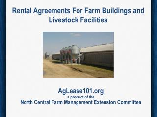 Rental Agreements  For  Farm Buildings and  Livestock Facilities