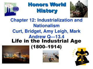 Life in the Industrial Age (1800–1914)