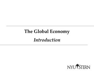 The Global Economy Introduction