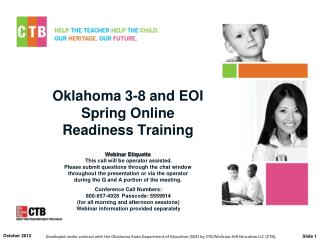 Oklahoma 3-8 and EOI Spring Online  Readiness Training