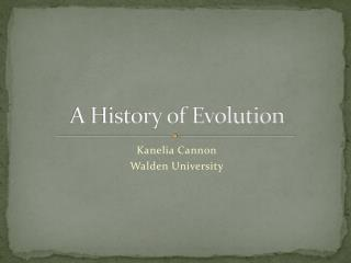 A History of Evolution