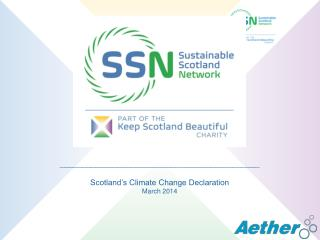 _____________________________________________ Scotland's Climate Change Declaration March 2014