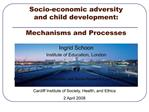 Socio-economic adversity  and child development:   Mechanisms and Processes