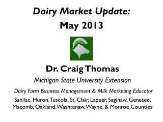 Dairy Market Update: May 2013