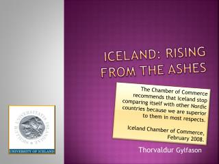 Iceland: Rising  from the Ashes