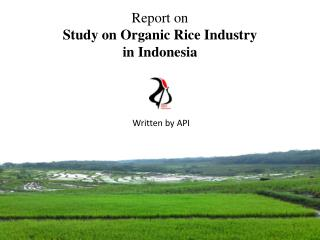 Report on Study on Organic Rice  Industry  in  Indonesia